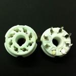 Zócalo octal de cerámica para PCB. Gold Pins