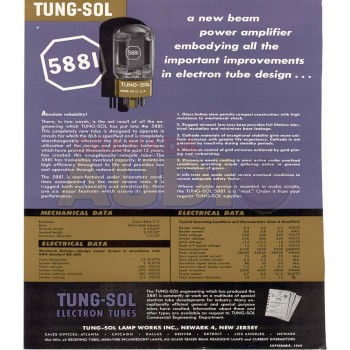 7581A Tung Sol Matched