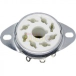 Zócalo octal de cerámica para montaje en chasis