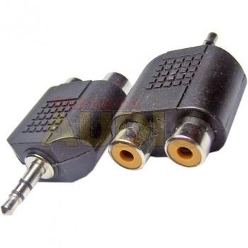 Adaptador RCA a mini jack 3,5 mm estéreo