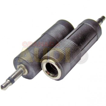 Adaptador Jack 6,3 mm a mini jack 3,5 mm mono