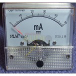Medidor de panel cuadrado fondo de escala 50mA