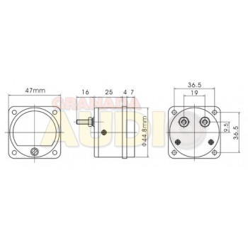 Medidor de panel cuadrado fondo de escala 100mV DC