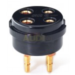Socket CMC bakelite 4 Pines Gold