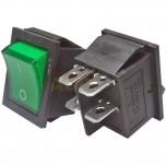 Interruptor ON-OFF tipo Rocker con luz, Verde