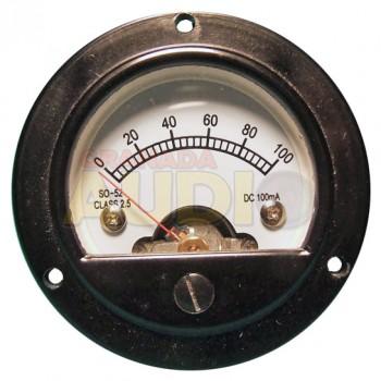 Medidor de panel retro fondo de escala 100mA DC