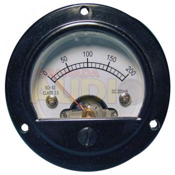 Medidor de panel retro fondo de escala 200mA DC