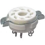 Zócalo octal de cerámica con soporte para chasis